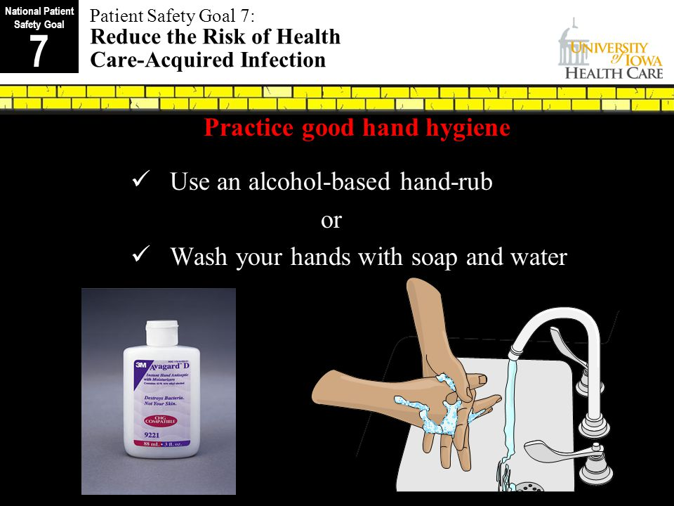 National Patient Safety Goal Practice good hand hygiene