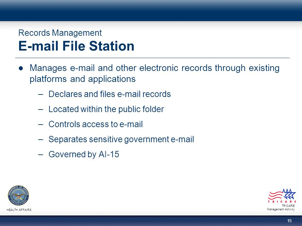 Records Management E-mail File Station