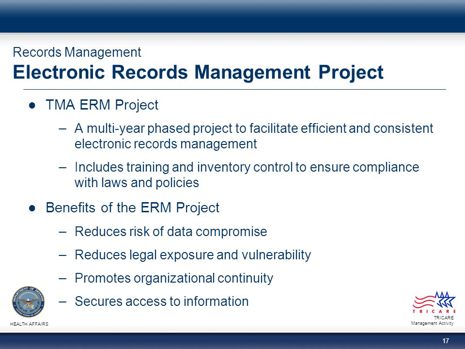 Records Management Electronic Records Management Project