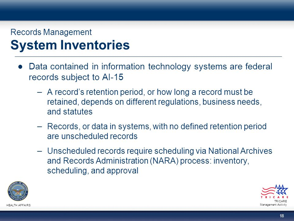 Records Management System Inventories