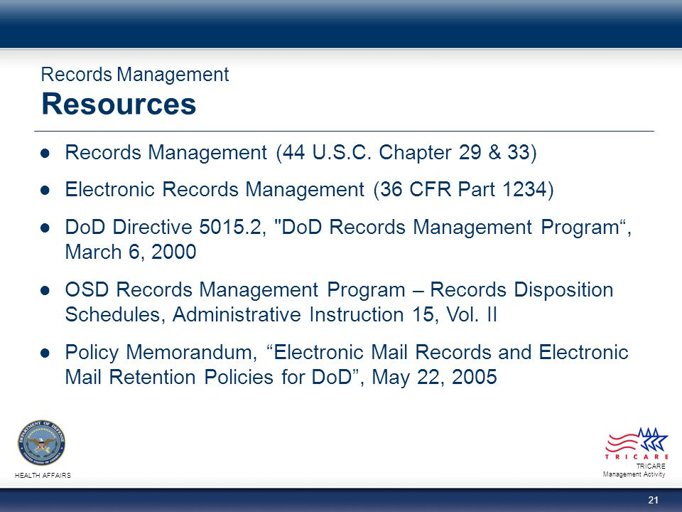 Records Management Resources
