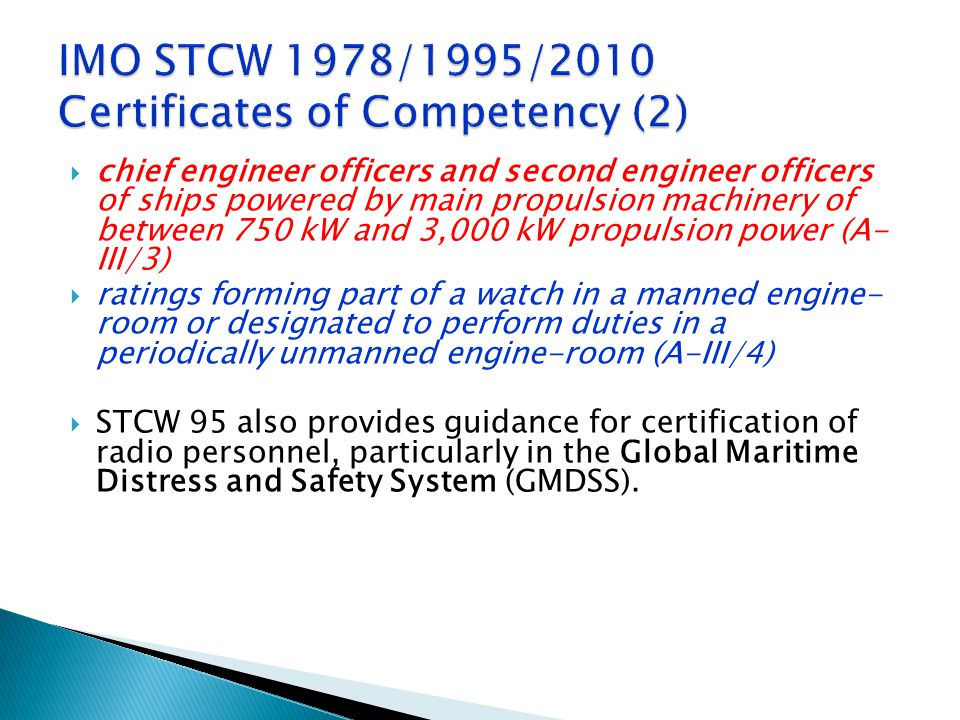 IMO STCW 1978/1995/2010 Certificates of Competency (2)