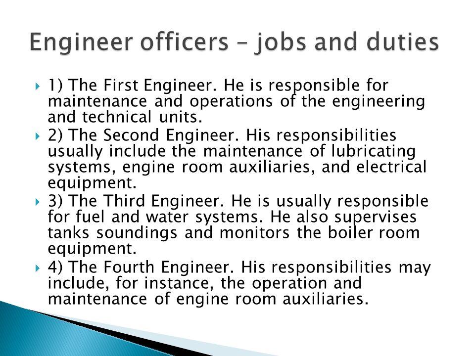 Engineer officers – jobs and duties
