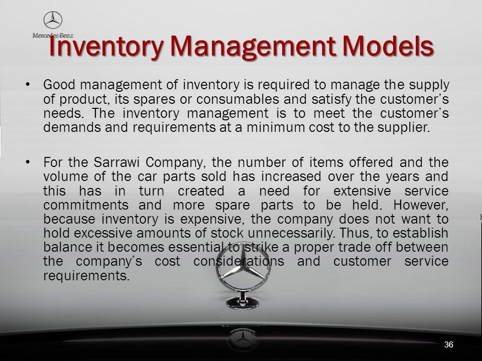 Inventory Management Models