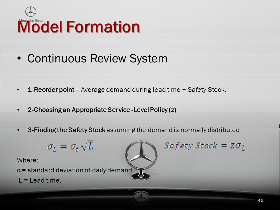 Model Formation Continuous Review System