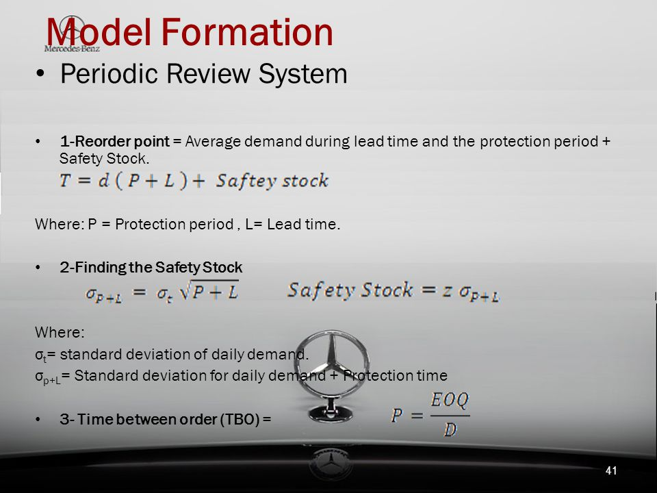 Model Formation Periodic Review System
