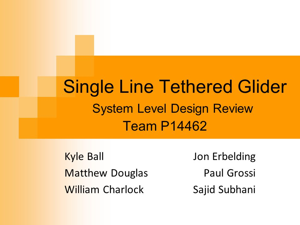 Single Line Tethered Glider