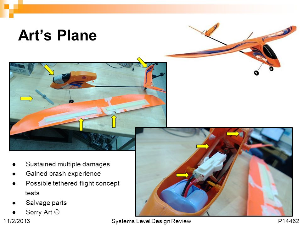 Art's Plane Sustained multiple damages Gained crash experience