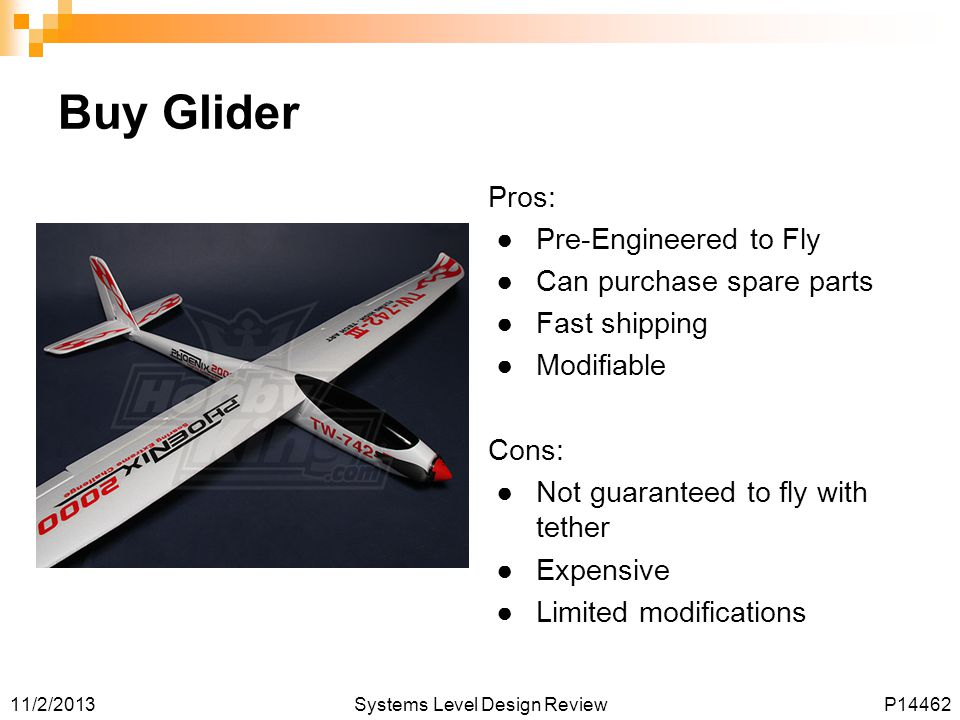 Buy Glider Pros: Pre-Engineered to Fly Can purchase spare parts