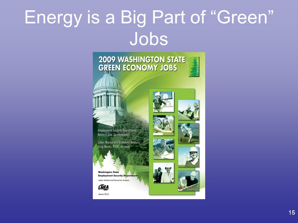 Energy is a Big Part of Green Jobs