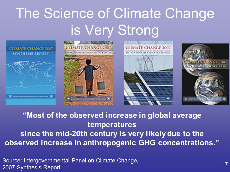 The Science of Climate Change is Very Strong