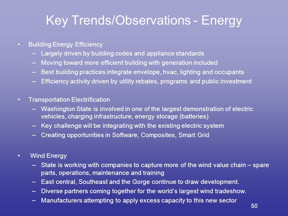 Key Trends/Observations - Energy