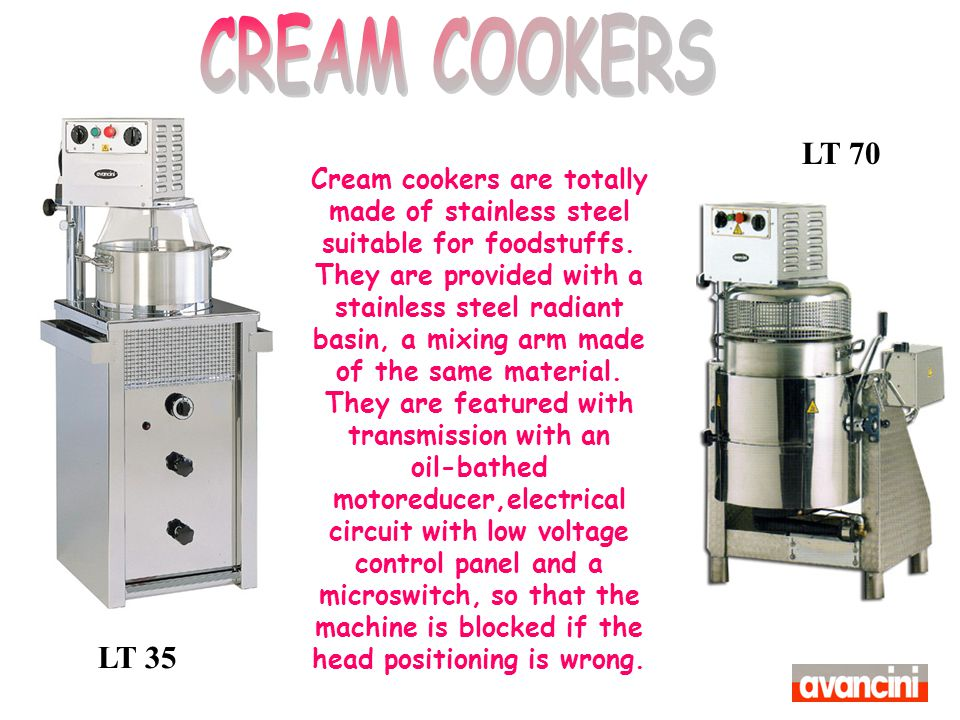 CREAM COOKERS LT 70.