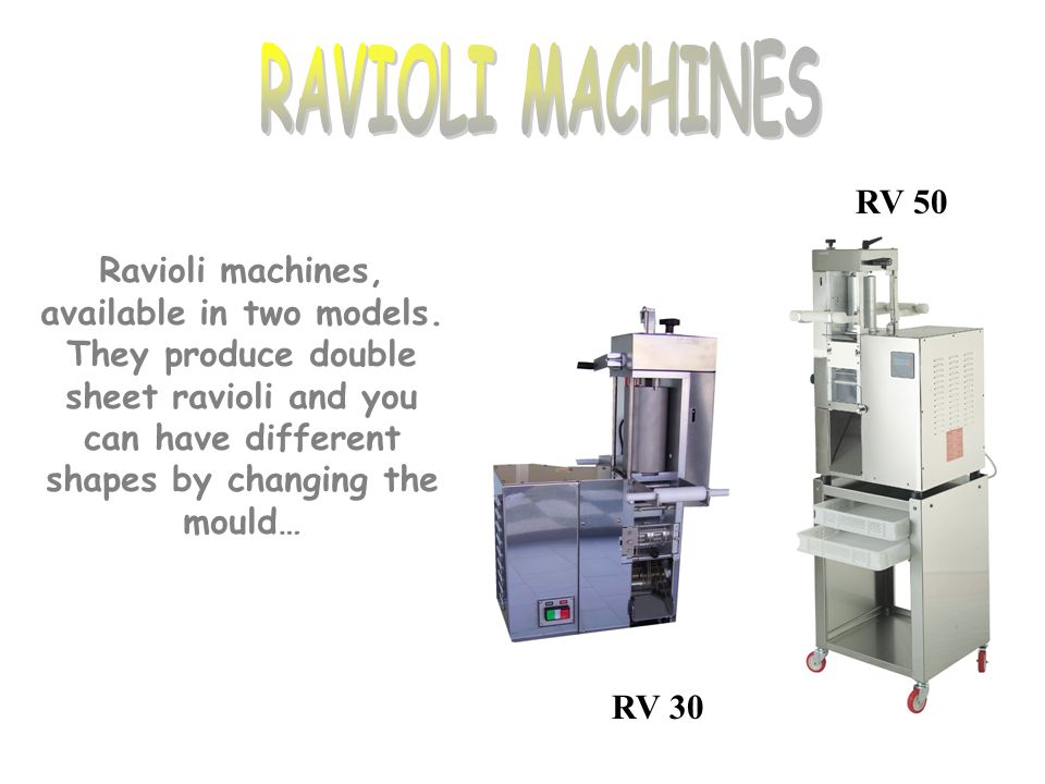 RAVIOLI MACHINES RV 50.