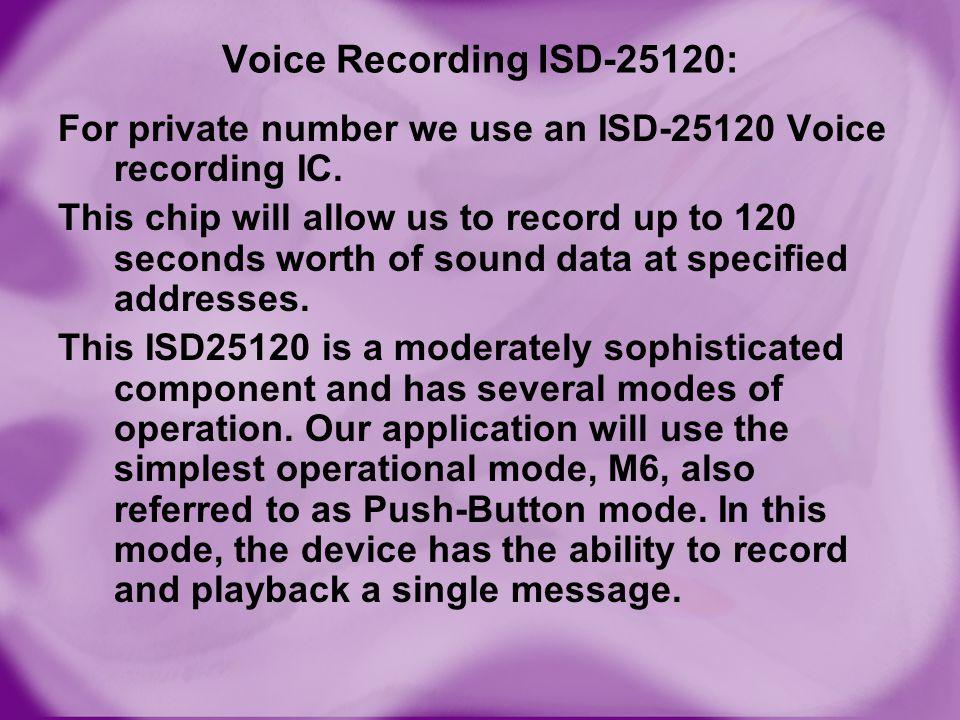Voice Recording ISD-25120: