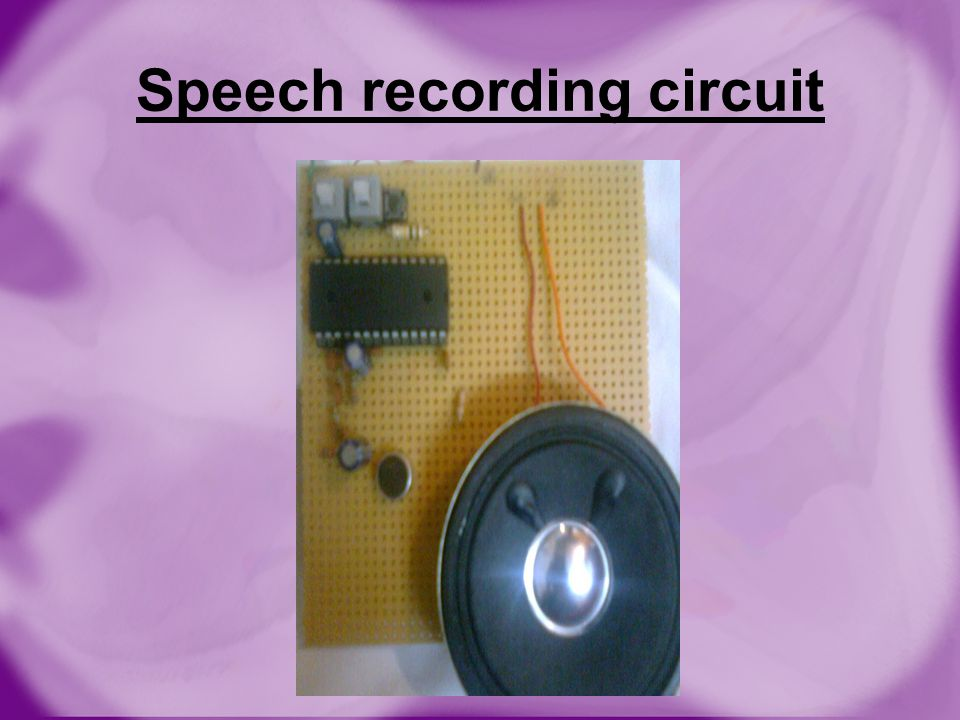 Speech recording circuit