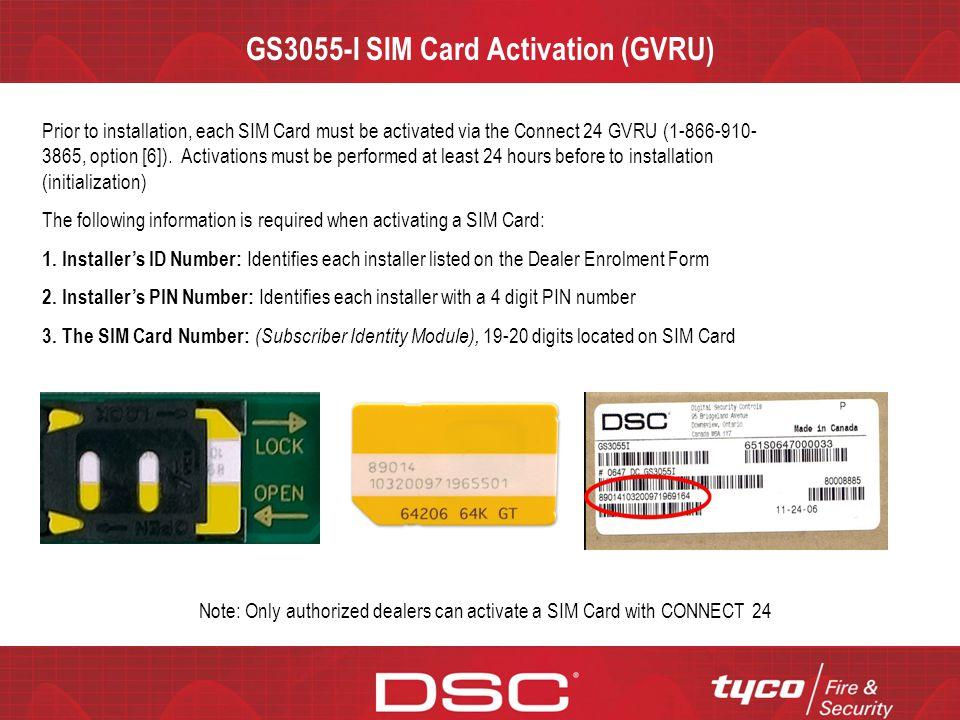 GS3055-I SIM Card Activation (GVRU)