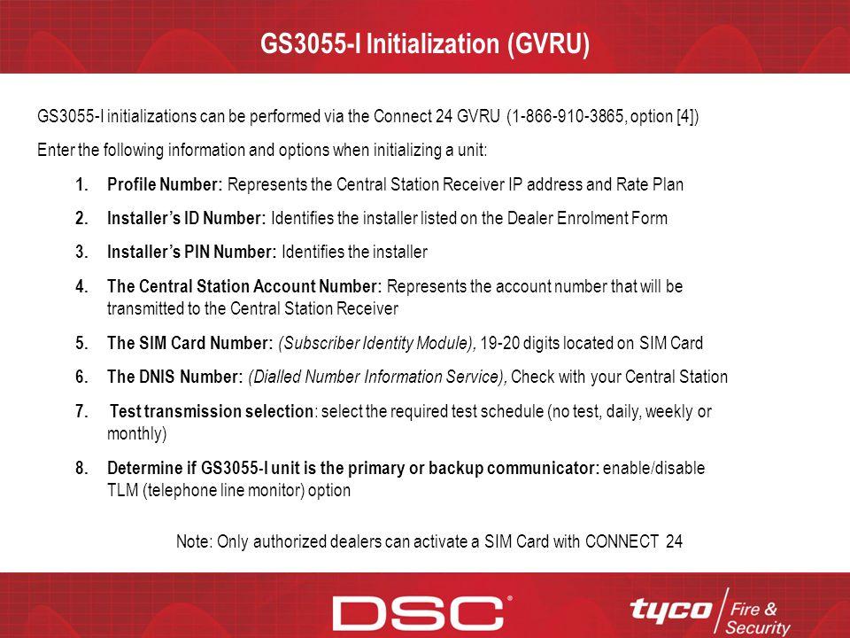 GS3055-I Initialization (GVRU)