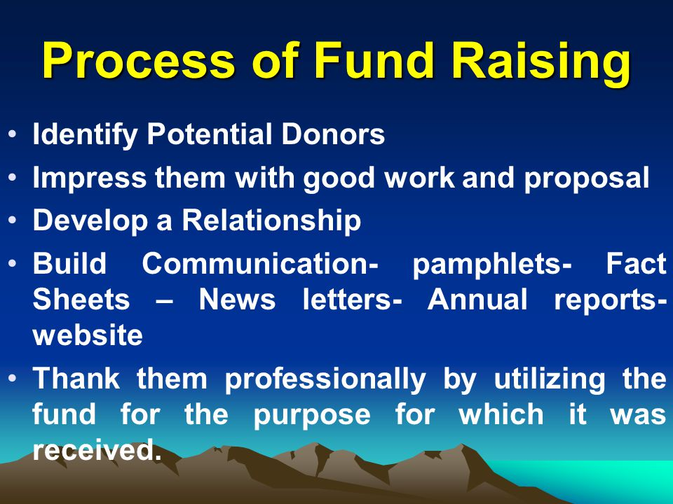 Process of Fund Raising