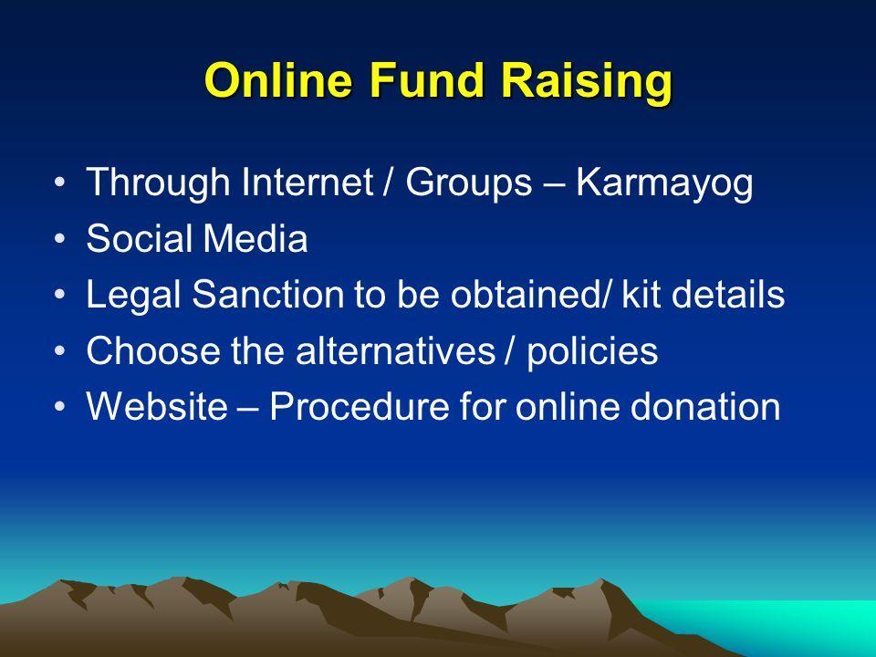 Online Fund Raising Through Internet / Groups – Karmayog Social Media