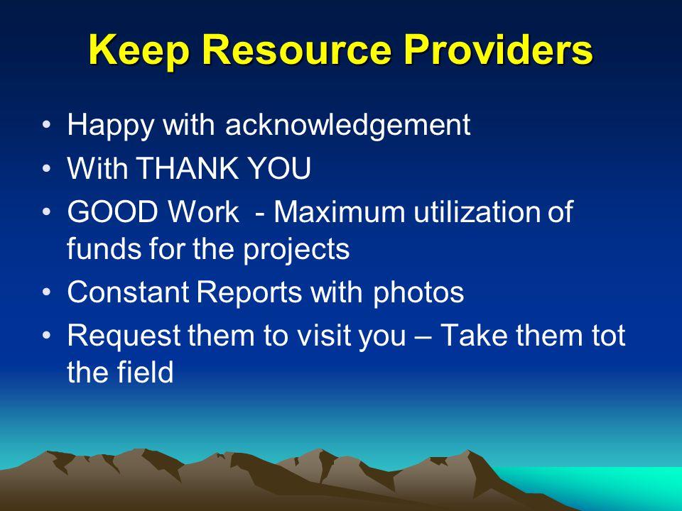 Keep Resource Providers