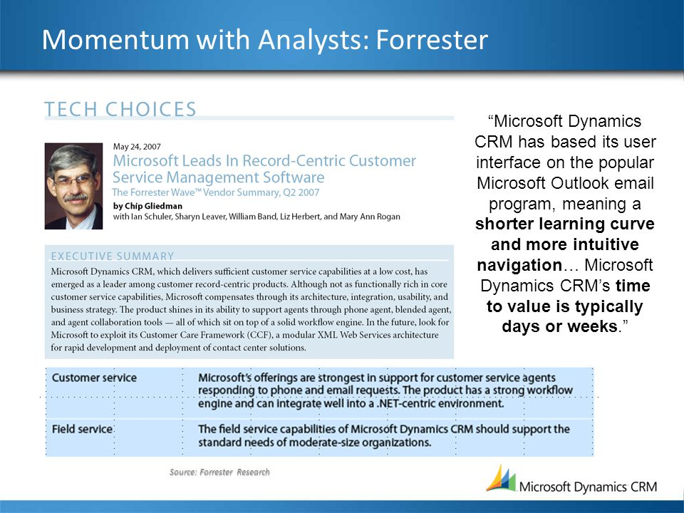 Momentum with Analysts: Forrester