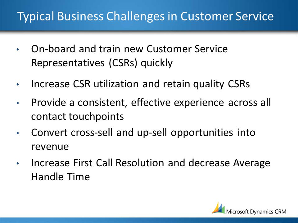 Typical Business Challenges in Customer Service