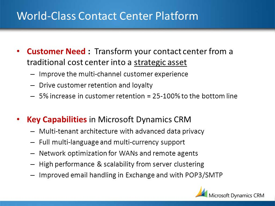 World-Class Contact Center Platform