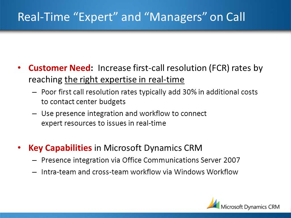 Real-Time Expert and Managers on Call