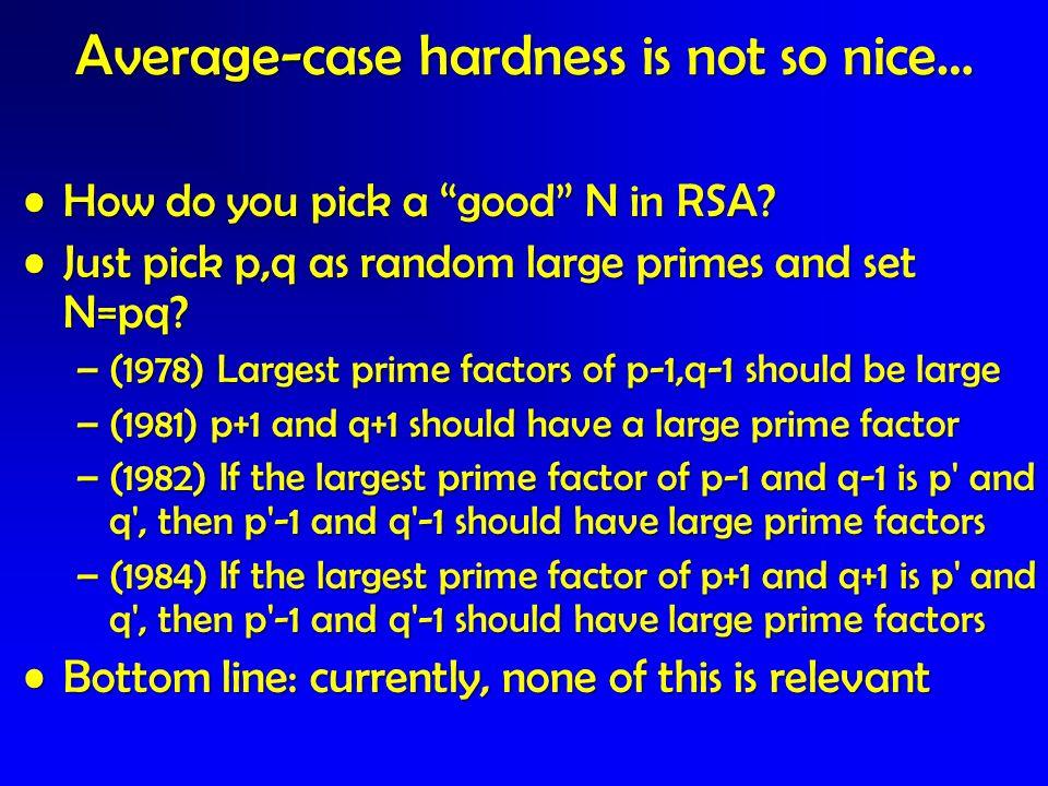 Average-case hardness is not so nice…