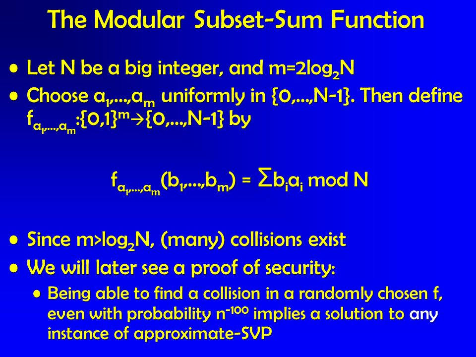 The Modular Subset-Sum Function