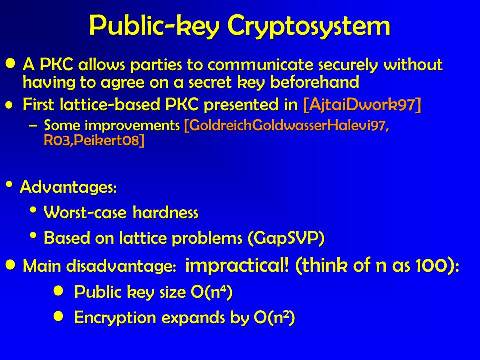 Public-key Cryptosystem