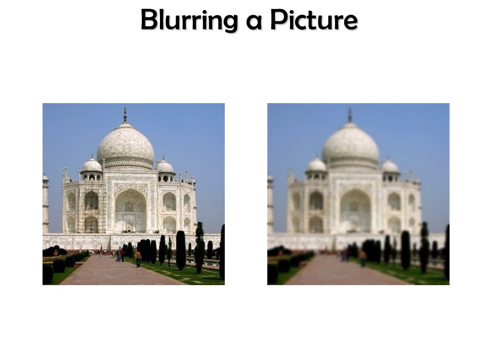 Blurring a Picture