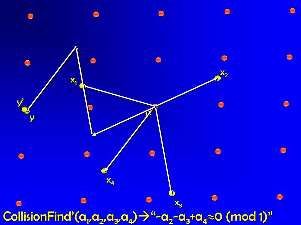 CollisionFind'(a1,a2,a3,a4) -a2-a3+a40 (mod 1)