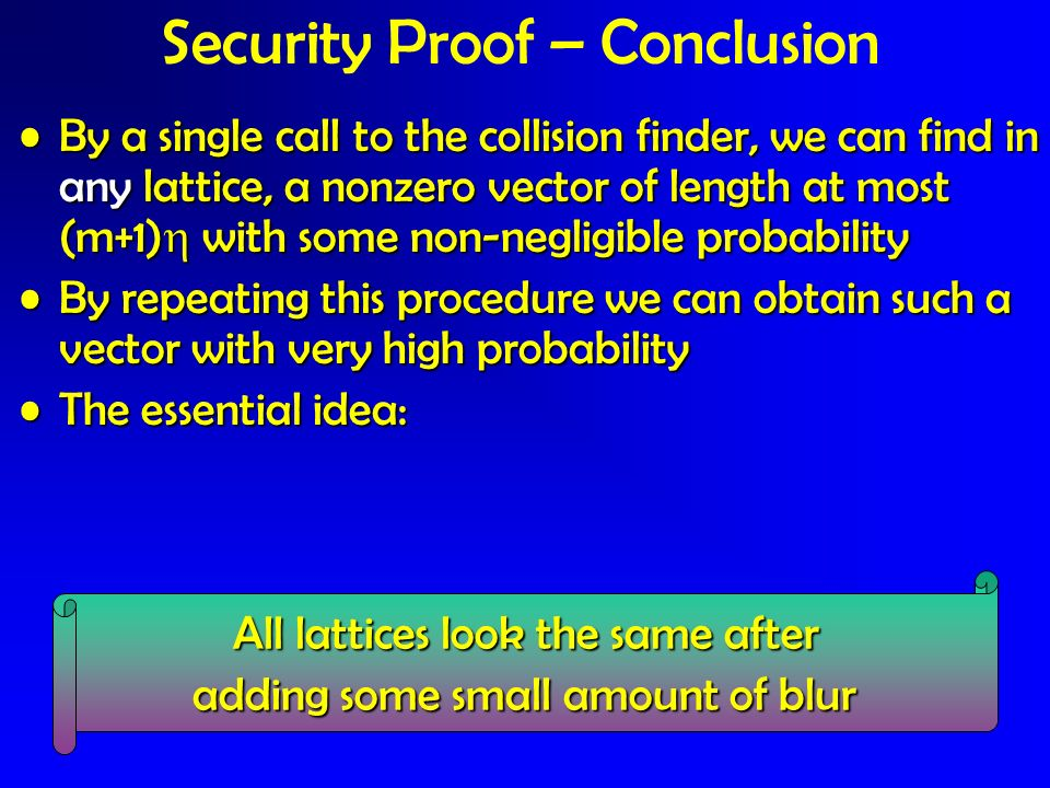 Security Proof – Conclusion