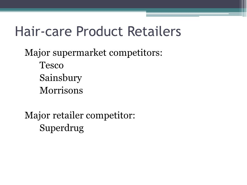 Hair-care Product Retailers