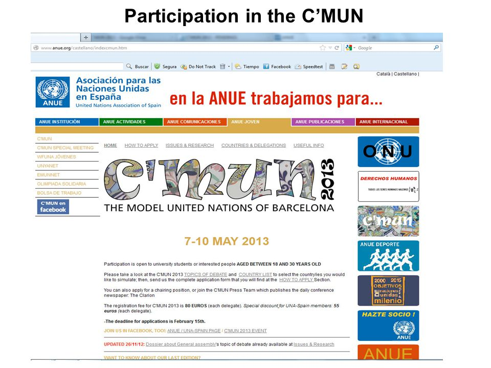 Participation in the C'MUN