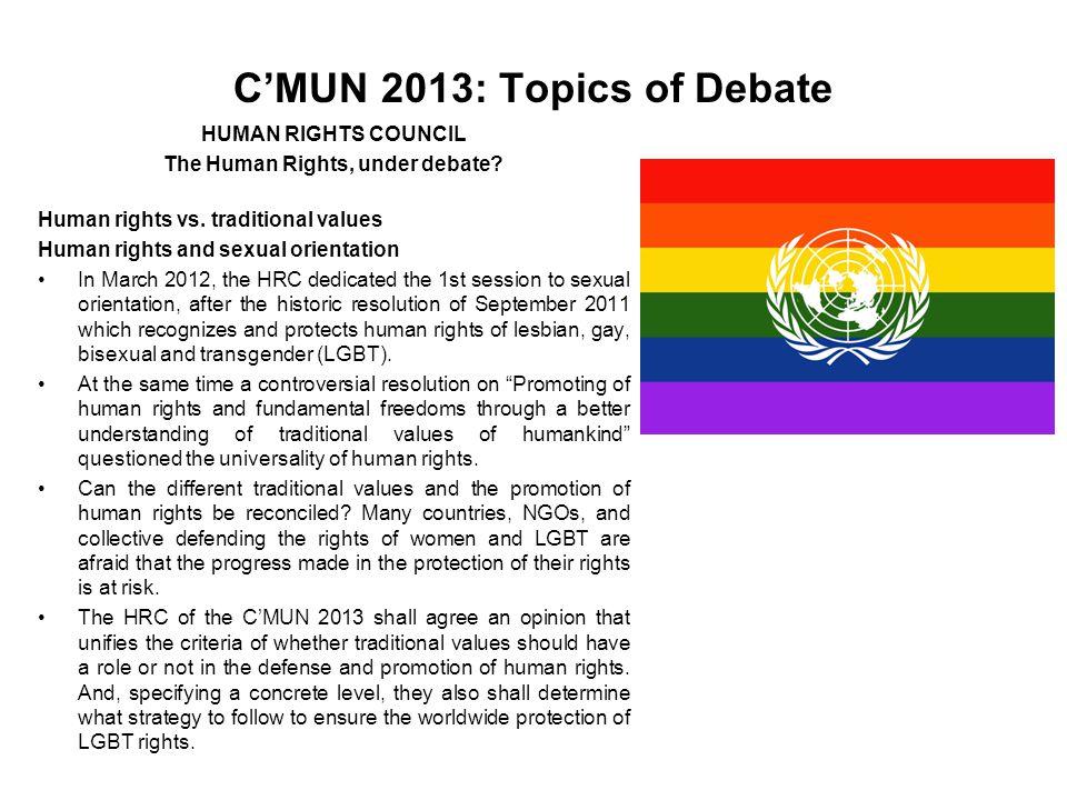 C'MUN 2013: Topics of Debate