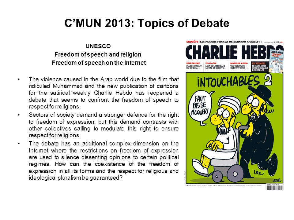C'MUN 2013: Topics of Debate