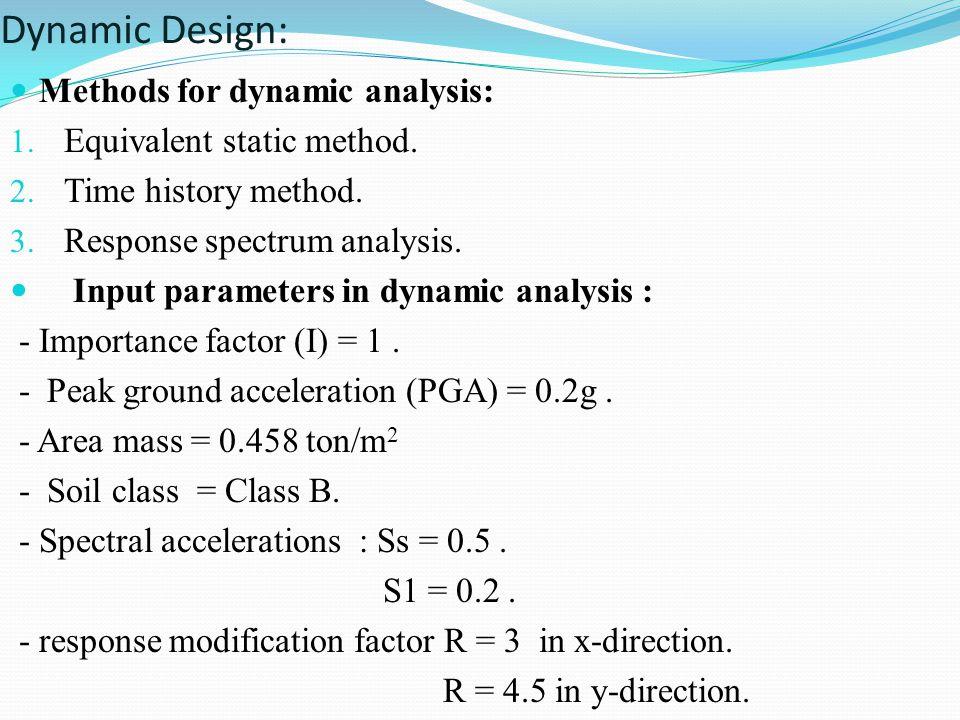 Dynamic Design: Methods for dynamic analysis: