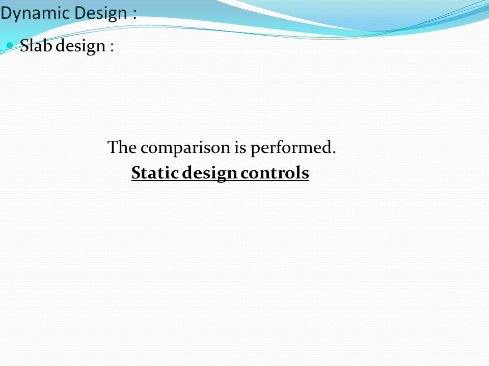 Static design controls