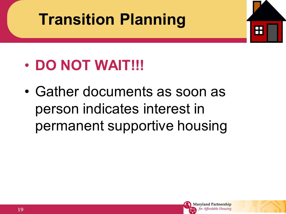 Transition Planning DO NOT WAIT!!!