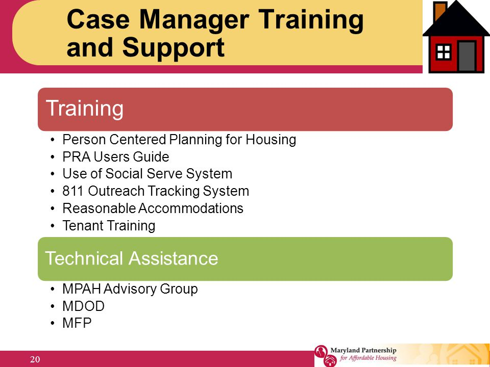 Case Manager Training and Support