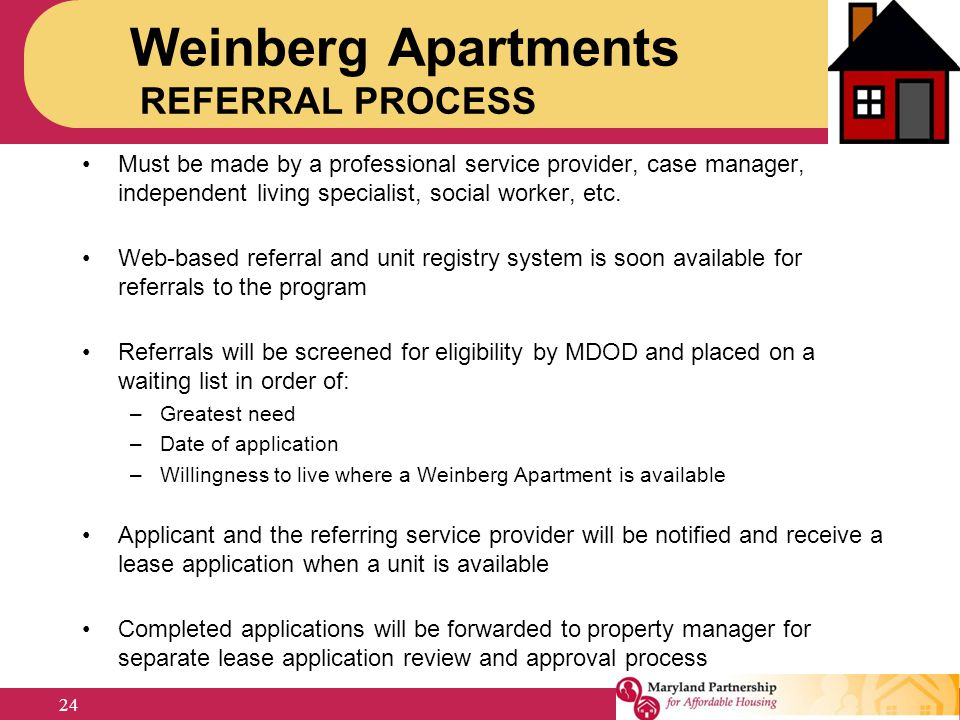 Weinberg Apartments REFERRAL PROCESS