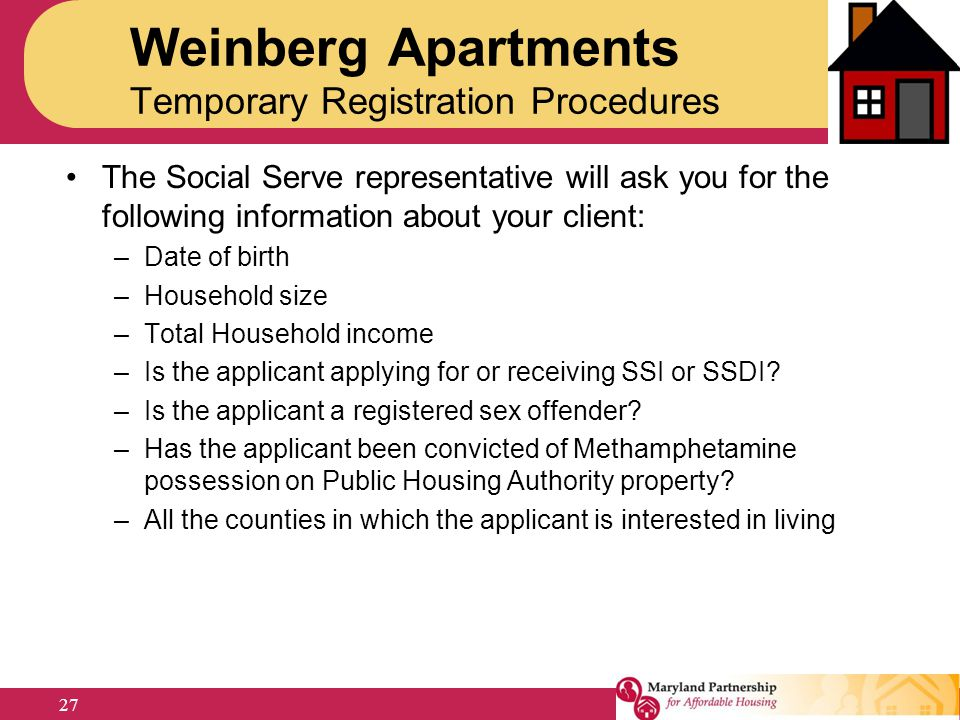 Weinberg Apartments Temporary Registration Procedures