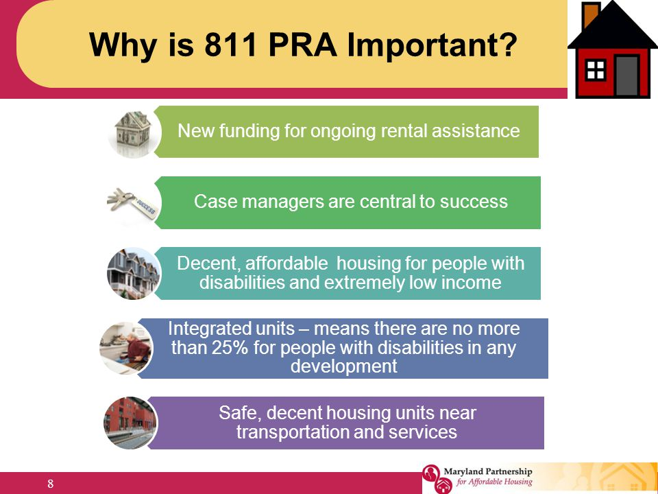 Why is 811 PRA Important New funding for ongoing rental assistance