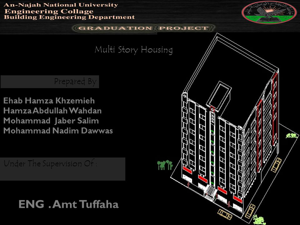 ENG . Amt Tuffaha Multi Story Housing Prepared By Ehab Hamza Khzemieh
