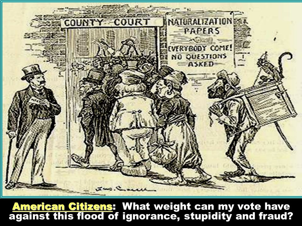 American Citizens: What weight can my vote have against this flood of ignorance, stupidity and fraud