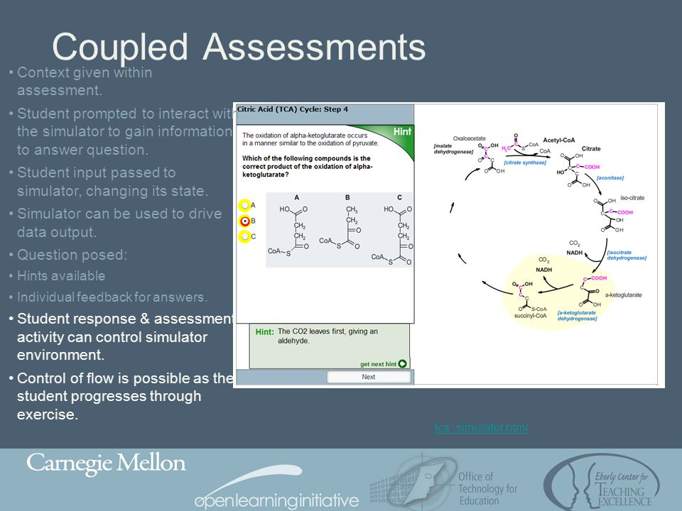 Coupled Assessments Context given within assessment.