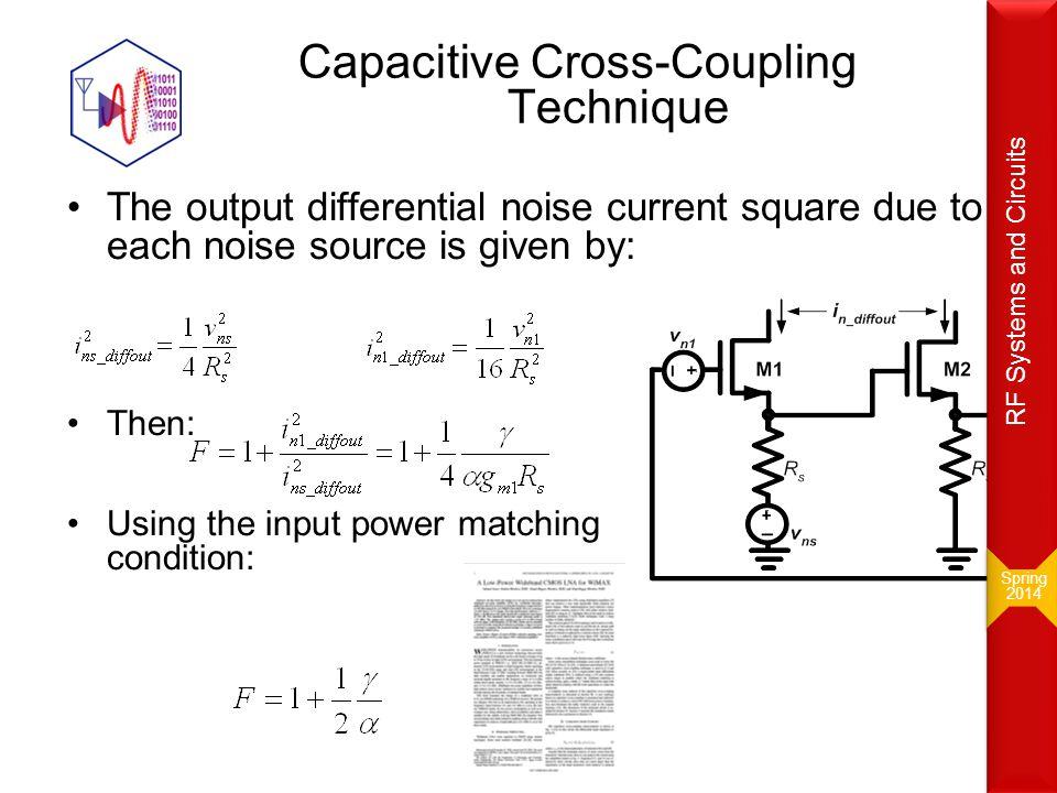 Capacitive Cross-Coupling Technique
